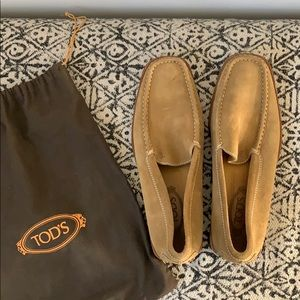 Camel Suede Tod's Slip-On